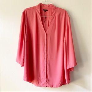 NYDJ Pink / Rose Popover V-neck Blouse size 2X